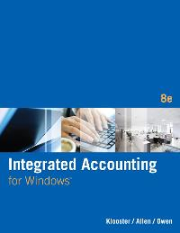 Integrated Accounting (8th) edition 1305161874 9781305161870