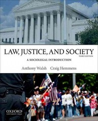 Law, Justice, and Society 3rd Edition 9780199958535 019995853X
