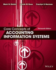 Core Concepts of Accounting Information Systems 13th Edition 9781118742938 1118742931