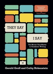 """They Say / I Say"" 3rd Edition 9780393935844 0393935841"