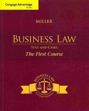 Cengage advantage books business law today 11th edition
