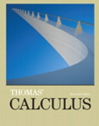 Thomas' Calculus (14th) edition 9780134654881 0134654889