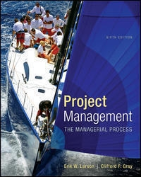 Project Management: The Managerial Process (6th) edition 9780077498528 77498526