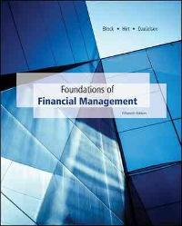 Foundations of Financial Management with Connect Access Card (16th) edition 9781259687969 1259687969