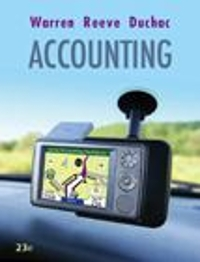 Bundle: Accounting + Study Guide, Chapters 1-17 (23rd) edition 9780324806021 0324806027