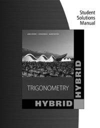 Bundle: Trigonometry, 2nd + Student Solutions Manual (2nd) edition 1133615194 9781133615194
