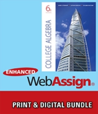 Bundle: College Algebra + Enhanced WebAssign with eBook LOE Printed Access Card for One-Term Math and Science (6th) edition 113353743X 9781133537434