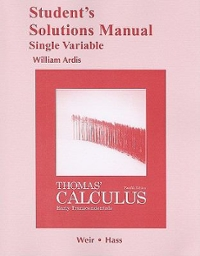 THOMAS CALCULUS EARLY TRANSCENDENTAL&SSM PK (12th) edition 9780321740960 0321740960