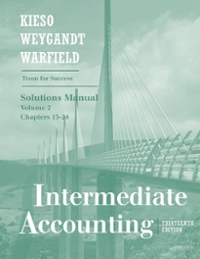 Intermediate Accounting (Solutions Manual, Volume 2 Chapters 15-24) 13th edition 9780470380673 0470380675