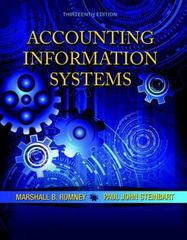 Accounting Information Systems 13th Edition 9780133428537 0133428532
