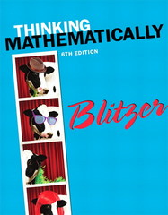Thinking Mathematically 6th Edition 9780321867322 0321867327