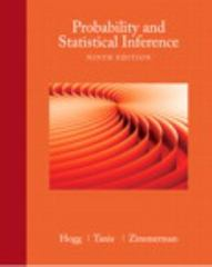 Probability and Statistical Inference 9th Edition 9780321923271 0321923278