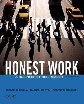 Honest work a business ethics reader 3rd edition rent honest work 3rd edition 9780199944200 0199944202 fandeluxe Choice Image