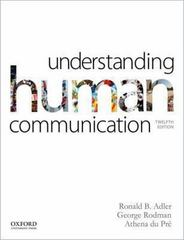 Understanding Human Communication 12th Edition 9780199334322 0199334323