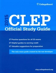 CLEP Official Study Guide 2015 1st Edition 9781457303227 1457303221