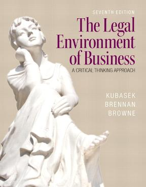 The legal environment of business a critical thinking approach 7th the legal environment of business 7th edition 9780133546422 013354642x fandeluxe Gallery