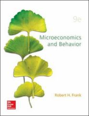 Microeconomics and Behavior 9th Edition 9780078021695 0078021693