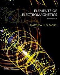 Elements of Electromagnetics 6th edition 9780199321384 0199321388