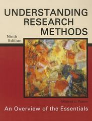 Understanding Research Methods 9th Edition 9781936523177 1936523175