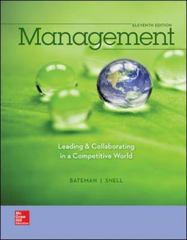 Management 11th Edition 9780077862541 0077862546