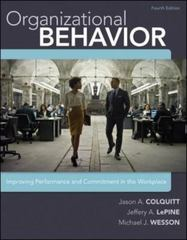 Organizational Behavior 4th Edition 9780077862565 0077862562