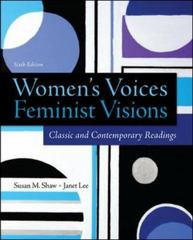 Women's Voices, Feminist Visions 6th Edition 9780078027000 0078027004