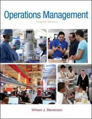 Operations Management 12th Edition 9780078024108 0078024102