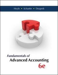 Fundamentals of Advanced Accounting 6th Edition 9780077862237 0077862236