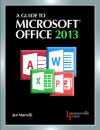 A Guide to Microsoft Office 2013 (0th) edition 9780821965610 821965611