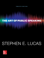 The Art of Public Speaking 12th Edition 9780073523910 0073523917