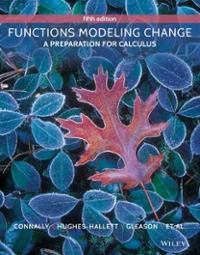 Functions Modeling Change (5th) edition  9781118986301