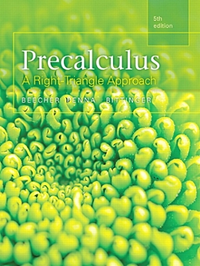 Precalculus a right triangle approach 5th edition rent precalculus 5th edition 9780321969552 0321969553 fandeluxe Choice Image