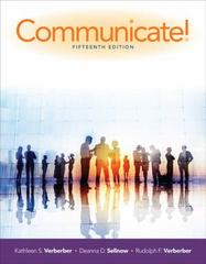 Communicate! 15th Edition 9781305502819 1305502817