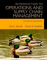 Introduction to Operations and Supply Chain Management (4th) edition 133871770 9780133871777
