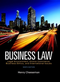 Business Law 9th Edition 9780134004006 0134004000