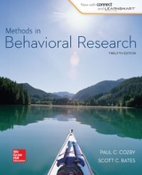 Methods in Behavioral Research 12th Edition 9780077861896 0077861892