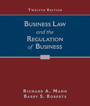 Business law and the regulation of business 12th edition rent business law and the regulation of business 12th edition fandeluxe Image collections