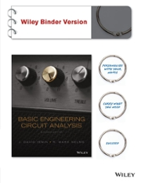 Basic Engineering Circuit Analysis (11th) edition 1118992660 9781118992661