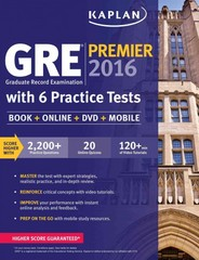 GRE Premier 2016 with 6 Practice Tests 1st Edition 9781625231321 1625231326