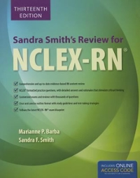 Sandra smiths review for nclex rn 13th edition rent sandra smiths review for n 13th malvernweather Gallery