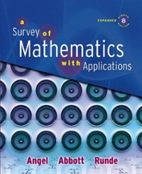 A Survey of Mathematics with Applications, Expanded Edition (8th) edition 032150108X 9780321501080