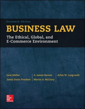 Business law 16th edition rent 9780077733711 chegg business law 16th edition 9780077733711 0077733711 view textbook solutions fandeluxe Gallery