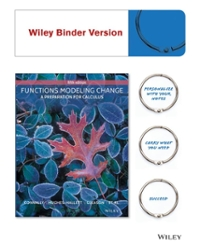 Functions Modeling Change (5th) edition 1118942582 9781118942581