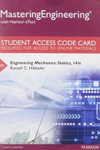 MasteringEngineering with Pearson eText -- Standalone Access Card - for Engineering Mechanics (14th) edition 0133916379 9780133916379