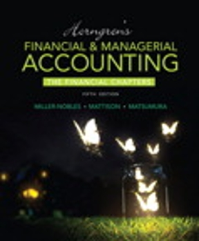 Horngrens financial managerial accounting the financial chapters horngrens financial managerial accounting the financial chapters plus myaccountinglab with pearson etext access card package 5th edition fandeluxe Images