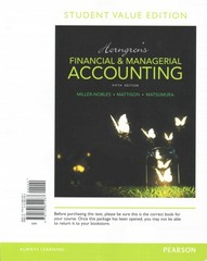 Horngrens financial managerial accounting student value edition horngrens financial managerial accounting student value edition plus myaccountinglab with pearson etext fandeluxe Images