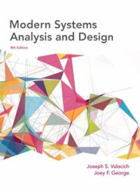 Chapter 3 A Solutions Modern Systems Analysis And Design 8th Edition Chegg Com