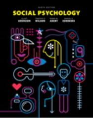 Social Psychology 9th Edition 9780133936544 0133936546