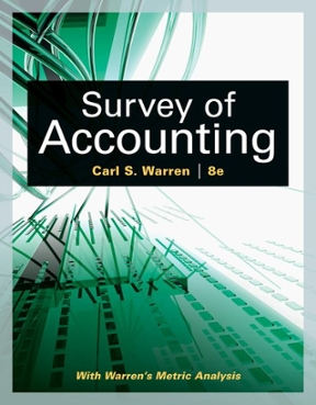 Survey of accounting 8th edition rent 9781305961883 chegg survey of accounting 8th edition 9781305961883 1305961889 view textbook solutions fandeluxe Gallery