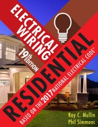electrical wiring residential 19th edition textbook solutions rh chegg com Motor Wiring Residential Wiring Symbols